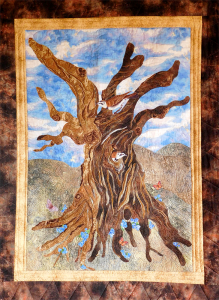 """Drought, Fire, Rebirth"" San Mateo quilting artist Janice Kelber"