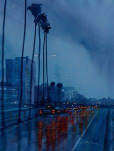 """Evening Rain"" by La Honda artist William Dunn"